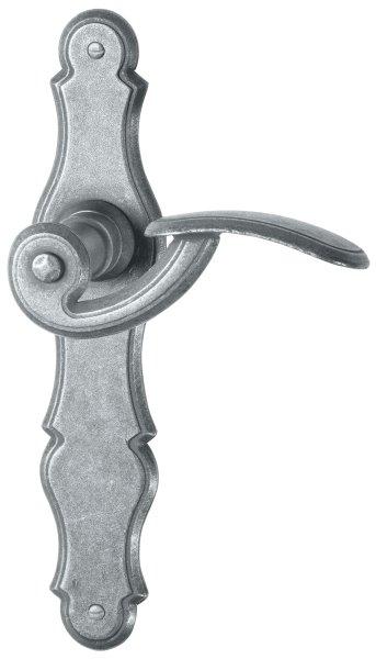 Zimmertürgarnitur in Eisen schwarz passiviert (BB). Dist. 72 mm, 230x45 mm  Bild1