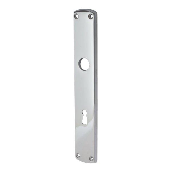 Zimmertürschild Dist. 72 mm BB, Messing vernickelt  mit Schutzlack. Säbel. Bild1