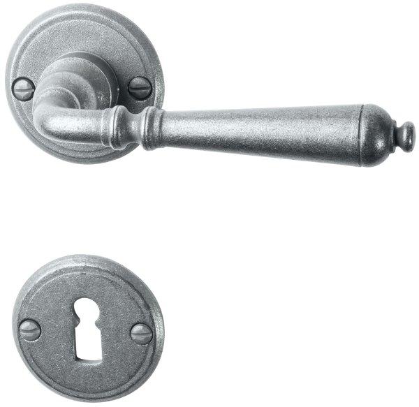 Rosettengarnitur Eisen thermopatiniert ®Die Distanz ist variabel., BB, Dist. variabel D: 53 mm der S Bild1