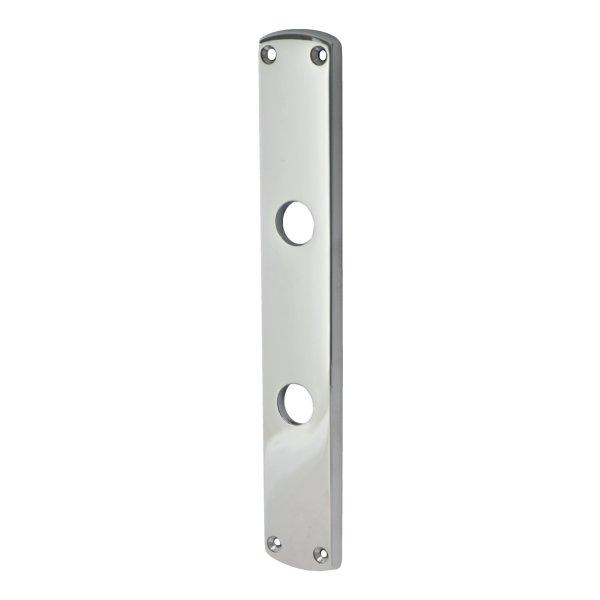 Badezimmertürschild Dist. 78 mm WC, Messing vernickelt matt mit Schutzlack. Säbel. Bild1
