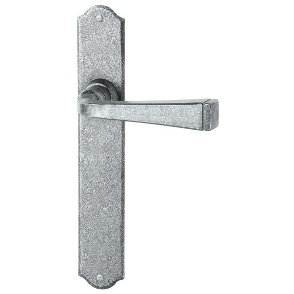 Zimmertürgarnitur in Eisen schwarz passiviert (BB). Dist. 72 mm, 280x40 mm Bild1