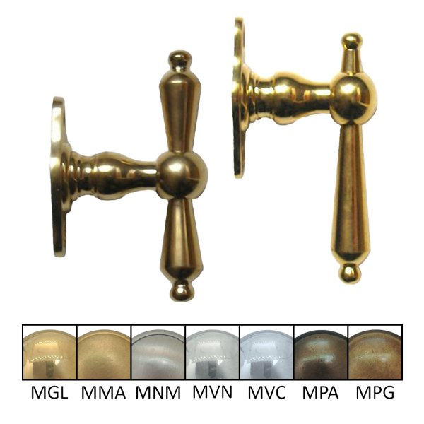 Fenstergriff oder Fensterolive 90 mm in verschiedenen Oberflächen Bild1