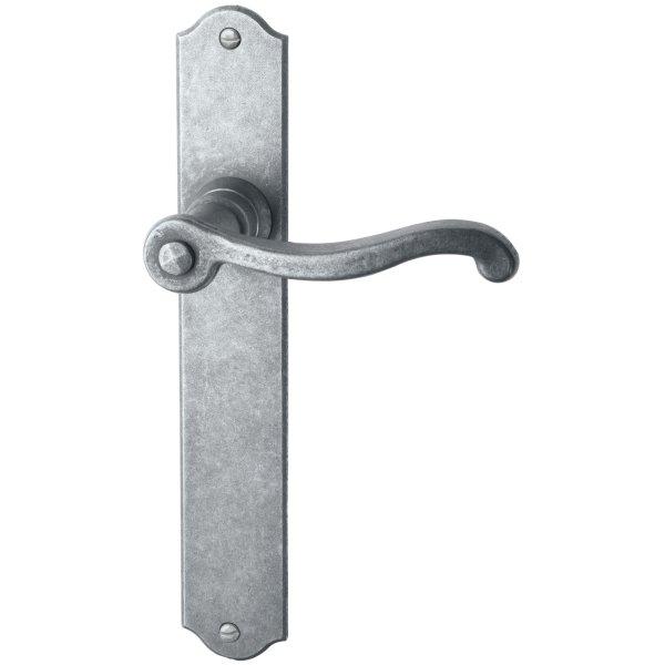 Zimmertürgarnitur in Eisen thermopatiniert ® (BB). Dist. 72 mm, 280x40 mm Bild1