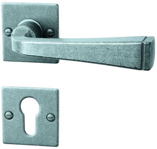 Rosettengarnitur schwarz passiviert, PZ, Dist. variabel L x B: 52 mm x 52 mm der Serie TG055 Bild1