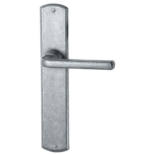Zimmertürgarnitur in Eisen schwarz passiviert (BB). Dist. 72 mm, 238x41 mm Bild1