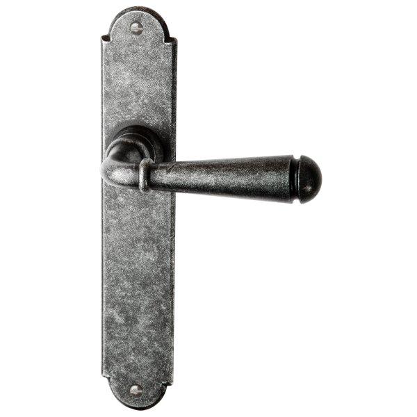 Zimmertürgarnitur in Eisen schwarz passiviert (BB). Dist. 72 mm, 220x40 mm Bild1