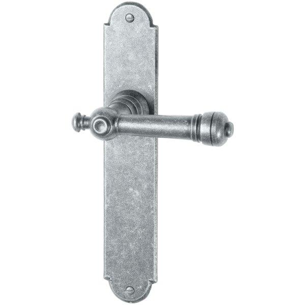 Zimmertürgarnitur in Eisen thermopatiniert ® (BB). Dist. 72 mm, 220x40 mm Bild1