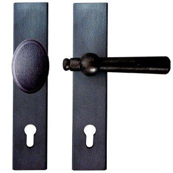 Sicherheitsgarnitur Eisen schwarz passiviert (PZ). Dist. 92 mm, DIN LI 240x48 mm Bild1