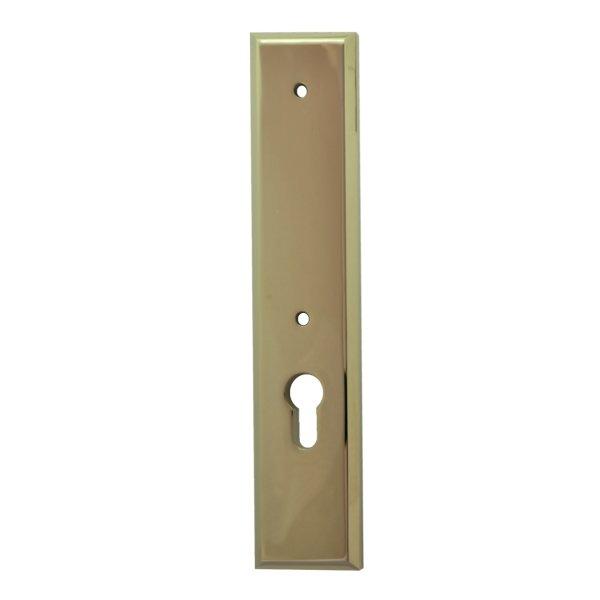 Sicherheitstürschild für stoß Griffloch (PZ) Dist. 72 mm  Messing glänzend mit Schutzlack Außen L x B:240 x 50 mm . Bauhaus Bild1