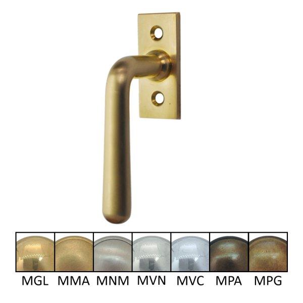 Fenstergriff Messing Grifflänge 105 mm der Serie FG115 Bild1