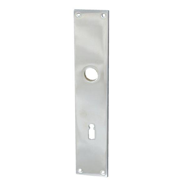 Rechteckiges Zimmertürschild Dist. 72 mm BB, Messing vernickelt mit Schutzlack Bild1