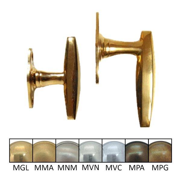 Fenstergriff oder Fensterolive 80 mm in verschiedenen Oberflächen Bild1