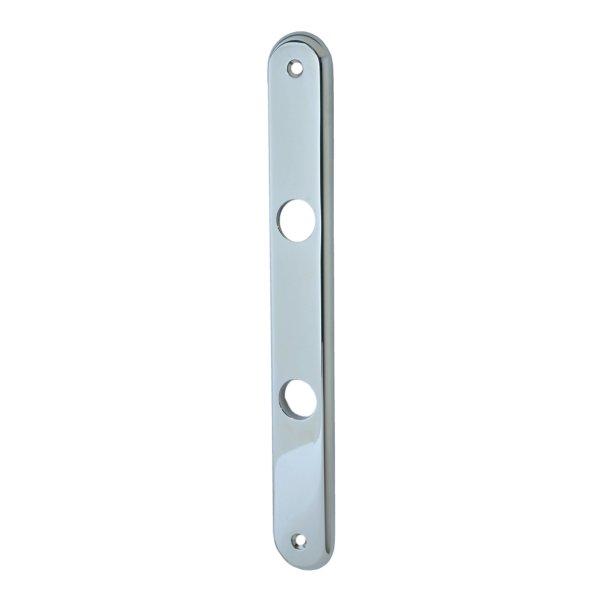 Badezimmertürschild  ohne Riegel in Messing verchromt mit Schutzlack . Modell Elegant Distanz: 78 mm Bild1