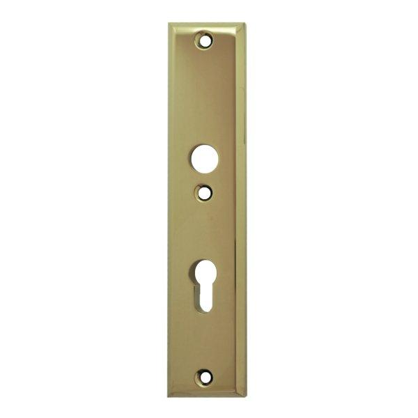 Sicherheitstürschild (PZ) Dist. 72 mm  Messing glänzend mit Schutzlack Innen L x B:240 x 50 mm . Bauhaus Bild1
