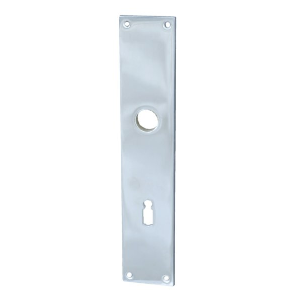 Rechteckiges Zimmertürschild Dist. 72 mm BB, Messing verchromt mit Schutzlack Bild1